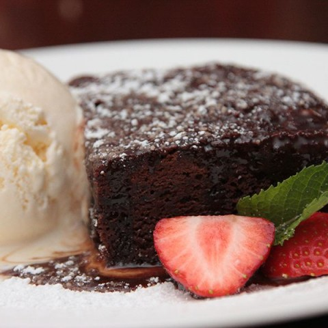Brú Bistro Chocolate Brownie - gourmet food