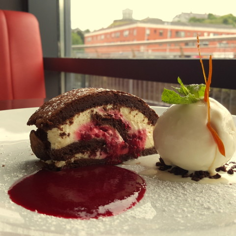 Chocolate & Raspberry Roulade