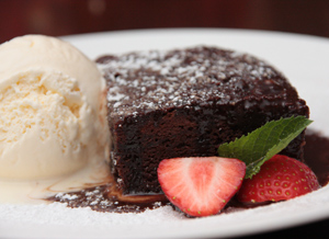 homemade brownie - Bru Bar Bistro in Drogheda