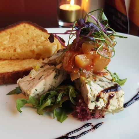Chicken Terrine with Pear Chutney