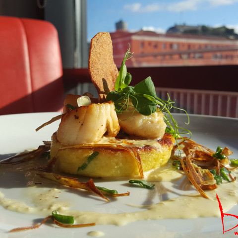 King Scallops with Potato Cake